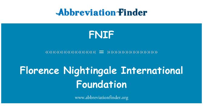 FNIF: Florence Nightingale International Foundation