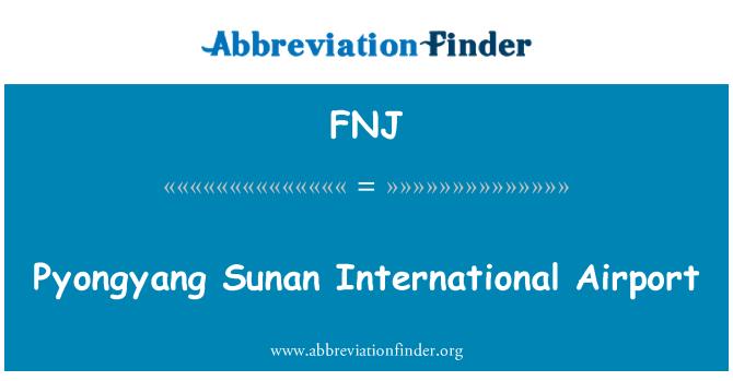 FNJ: Pyongyang Sunan International Airport