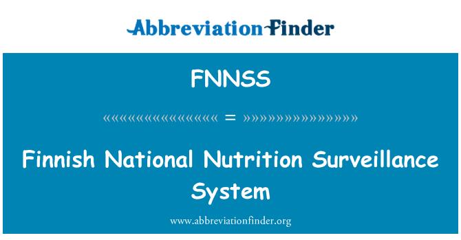FNNSS: Finnish National Nutrition Surveillance System