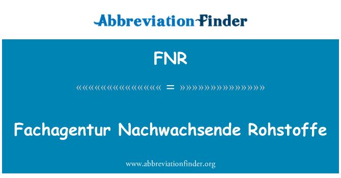 FNR: Fachagentur Nachwachsende Rohstoffe