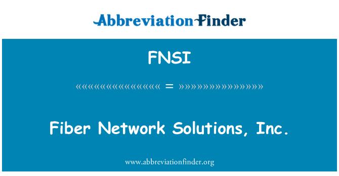 FNSI: Fibra de Network Solutions, Inc.