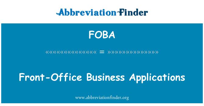 FOBA: Aplicaciones empresariales de Front-Office