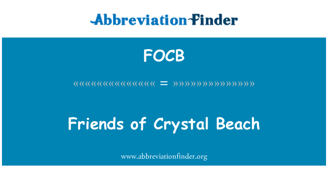 FOCB: Friends of Crystal Beach