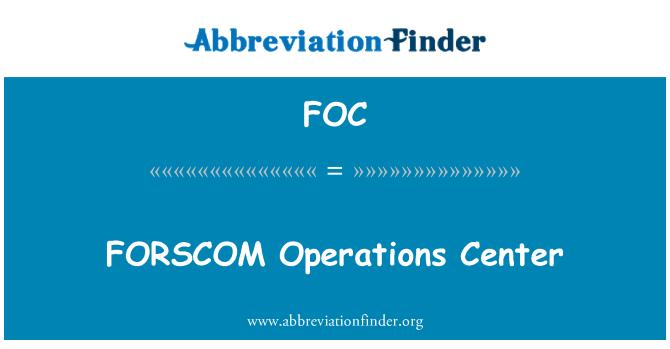 FOC: FORSCOM Operations Center