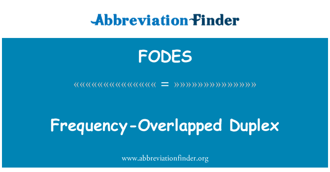 FODES: Frequency-Overlapped Duplex