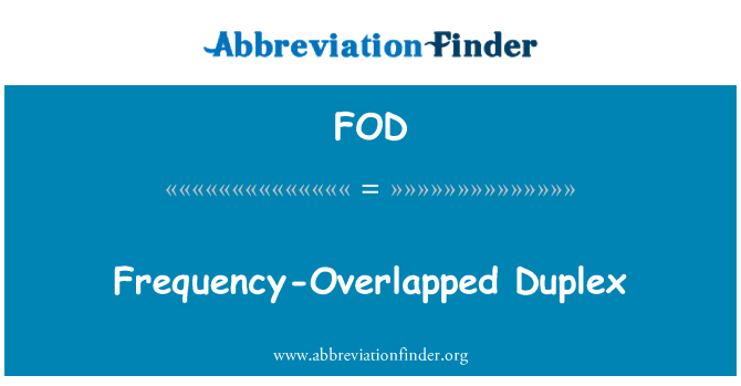 FOD: Frequency-Overlapped Duplex