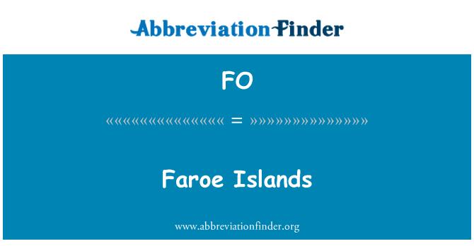 FO: Faroe Islands