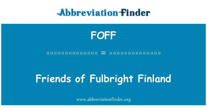 FOFF: Friends of Fulbright Finland