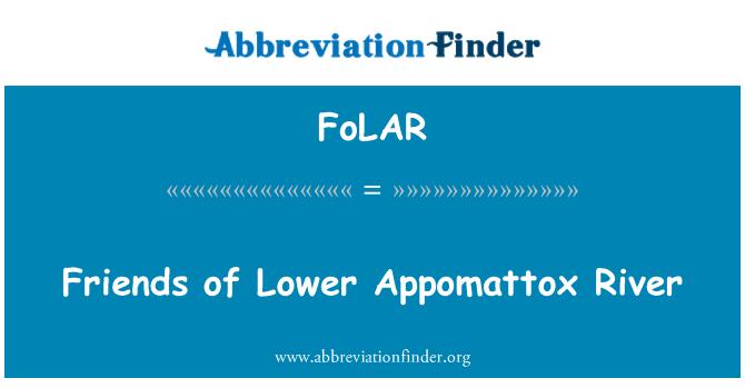 FoLAR: Friends of Lower Appomattox River