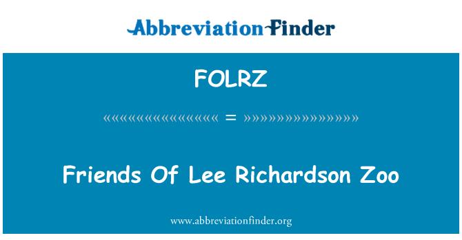 FOLRZ: Friends Of Lee Richardson Zoo