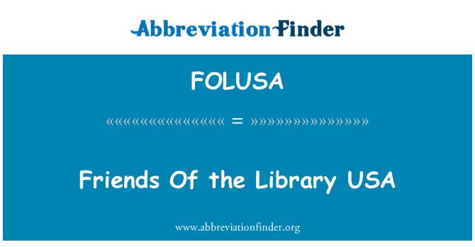 FOLUSA: Amigos de la biblioteca de los E.e.u.u.