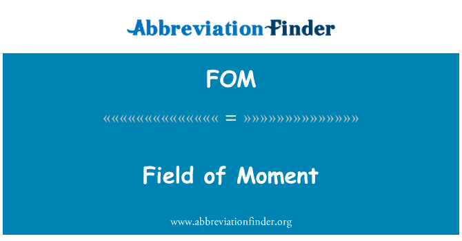 FOM: Field of Moment
