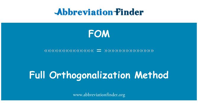 FOM: Full Orthogonalization Method
