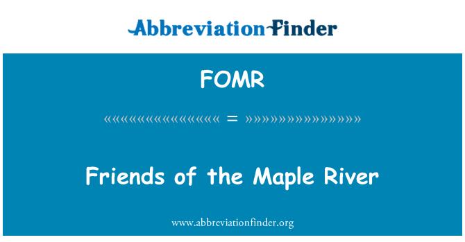 FOMR: Amigos del río arce