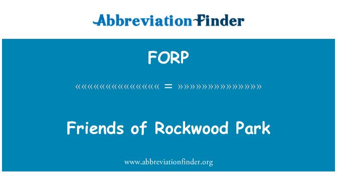 FORP: Friends of Rockwood Park