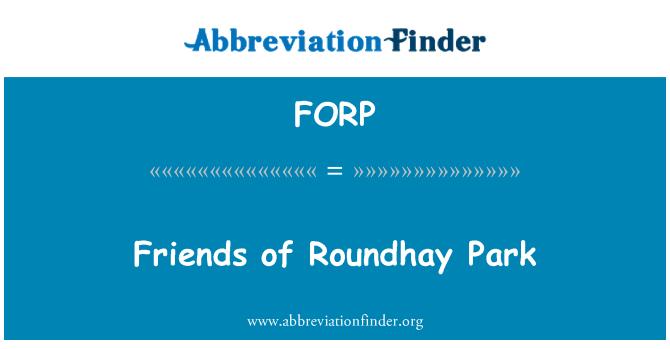 FORP: Amigos del parque de Roundhay