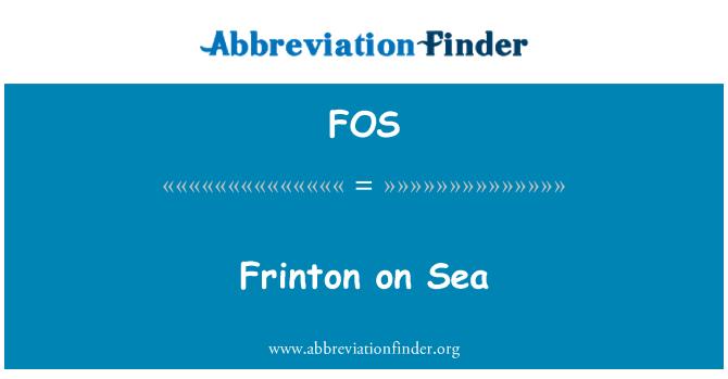 FOS: Frinton on Sea