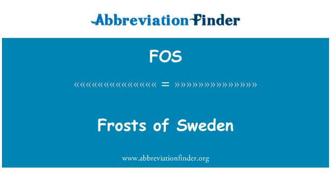 FOS: Frosts of Sweden