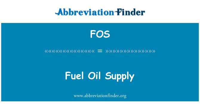 FOS: Fuel Oil Supply