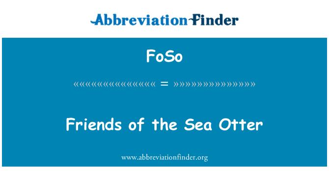 FoSo: Friends of the Sea Otter