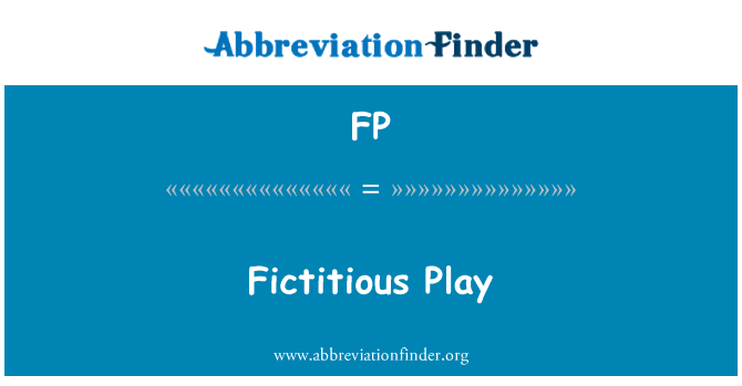 FP: Fictitious Play