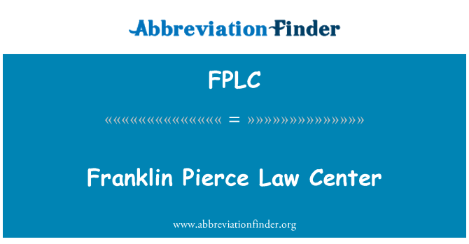 FPLC: Franklin Pierce Law Center