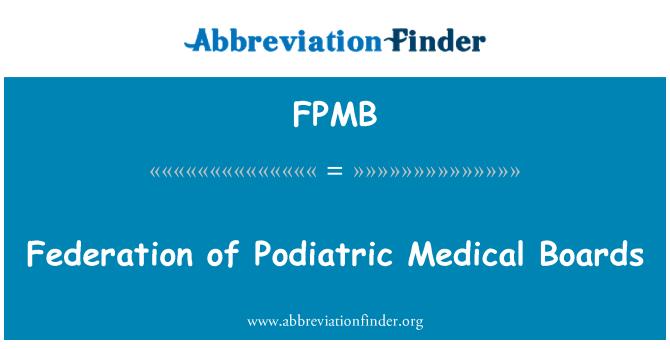 FPMB: Federación de juntas médicas podología