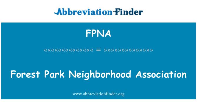 FPNA: Forest Park Neighborhood Association