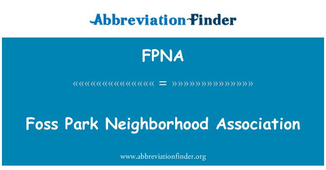FPNA: Foss Park Neighborhood Association