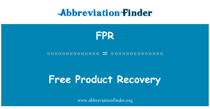 FPR: Free Product Recovery