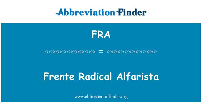 FRA: Frente Radical Alfarista