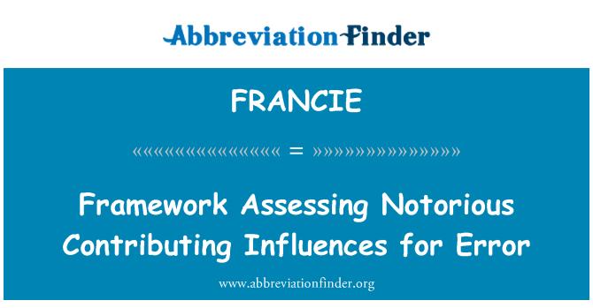 FRANCIE: Rangka kerja yang menilai pengaruh penyumbang yang terkenal untuk ralat