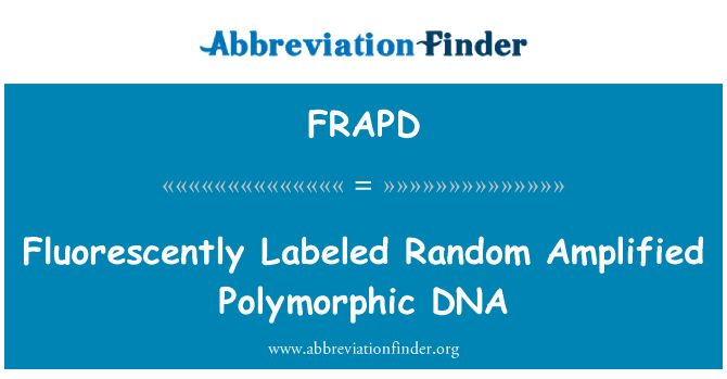 FRAPD: Fluorescently Labeled Random Amplified Polymorphic DNA