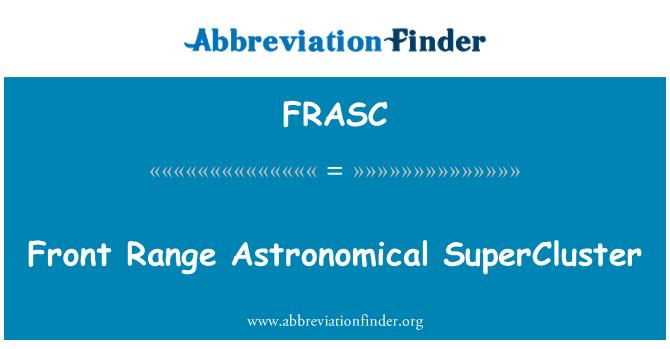 FRASC: Front Range Astronomical SuperCluster
