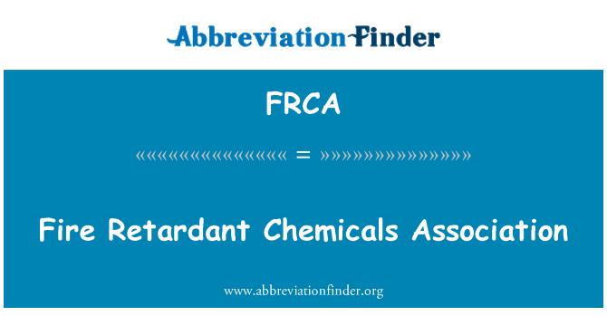 FRCA: Asociación de químicos retardantes al fuego