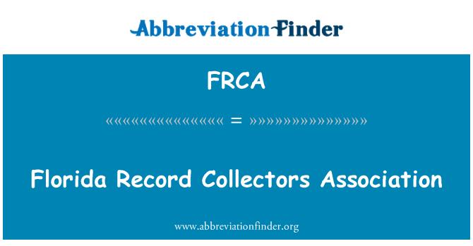 FRCA: Asociación de coleccionistas de discos Florida