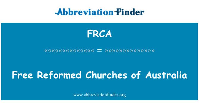 FRCA: Iglesias reformadas libres de Australia