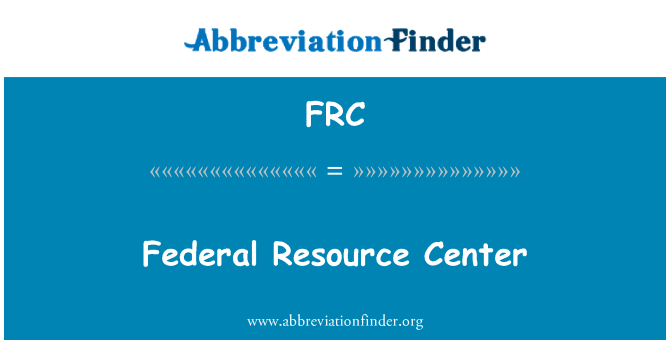 FRC: Federal Resource Center