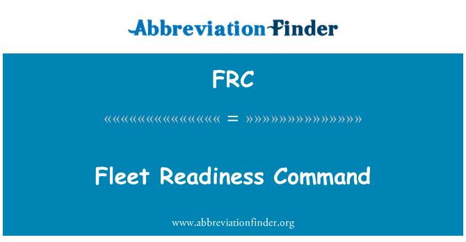 FRC: Fleet Readiness Command