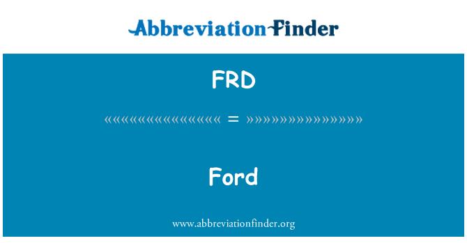 FRD: Ford