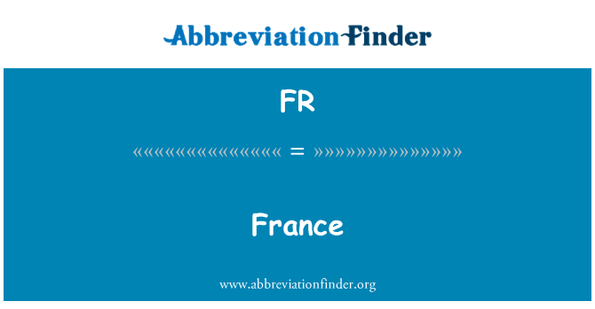 FR: France