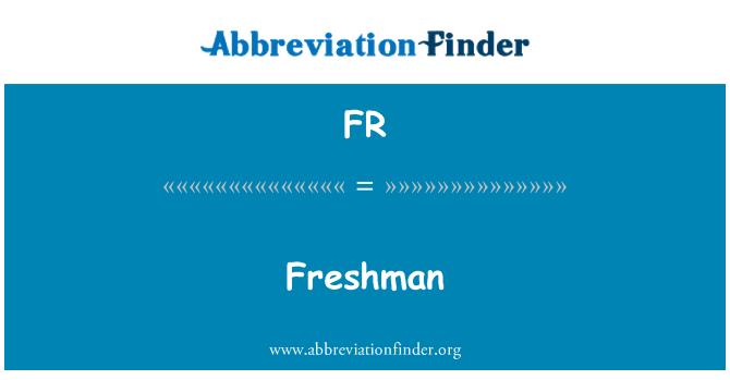FR: Freshman