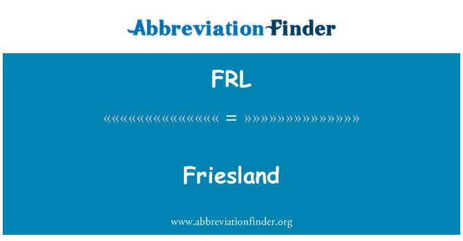 FRL: Friesland