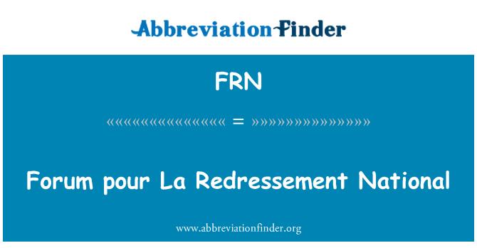 FRN: Forum pour La Redressement National