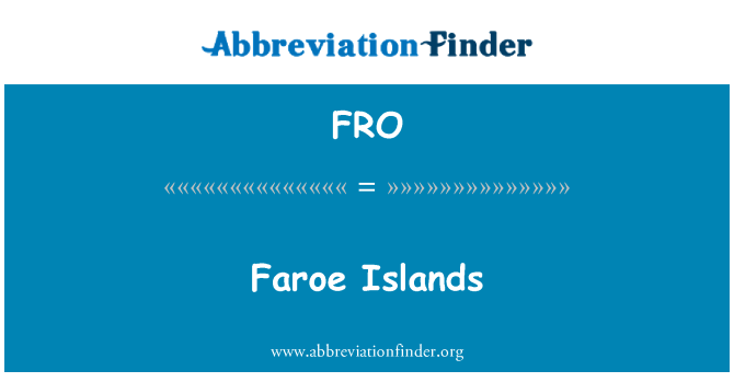 FRO: Faroe Islands