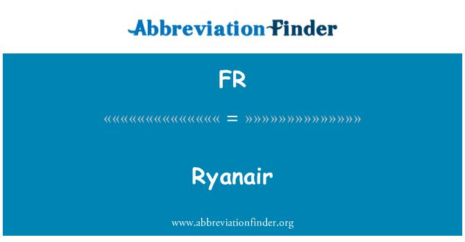 FR: Ryanair