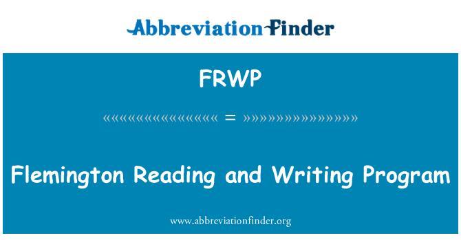 FRWP: Flemington Reading and Writing Program