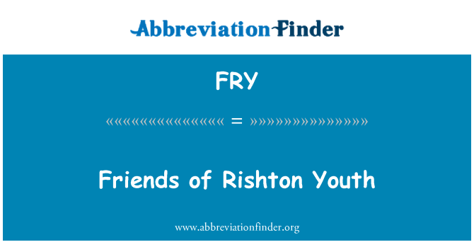 FRY: Friends of Rishton Youth