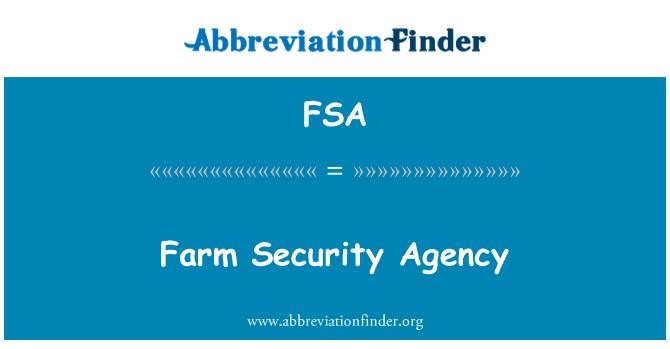 FSA: Farm biztonsági Ügynökség