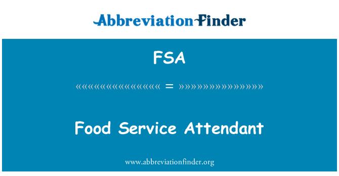 FSA: خدمة الأغذية المصاحبة
